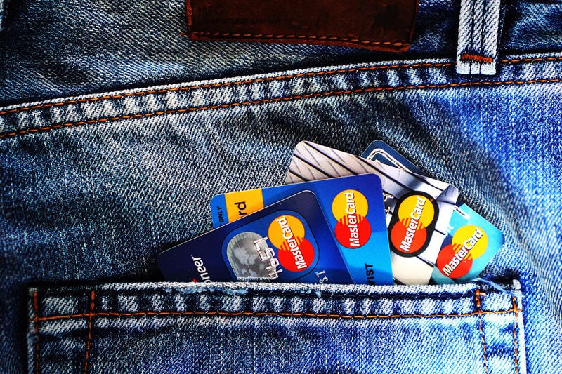 Credit Cards in Jeans