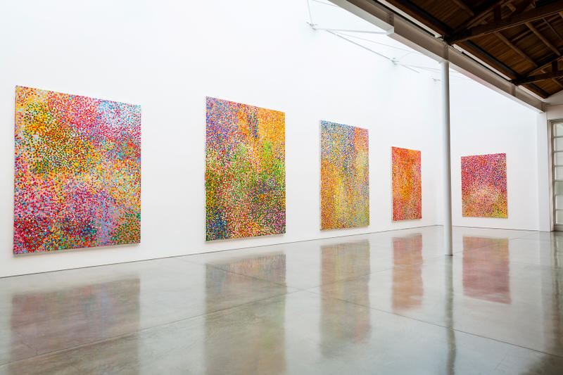 damien hirst the veil paintings gagosian los angeles california art artwork exhibit exhibition