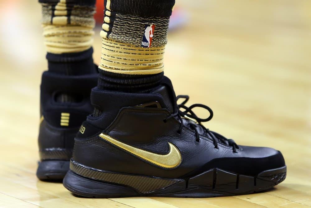 0ccca3b1c38b ... Preview Of DeMar Derozan Mamba Day Nike Kobe 1 Protro Toronto Raptors  Houston Rockets black gold ...