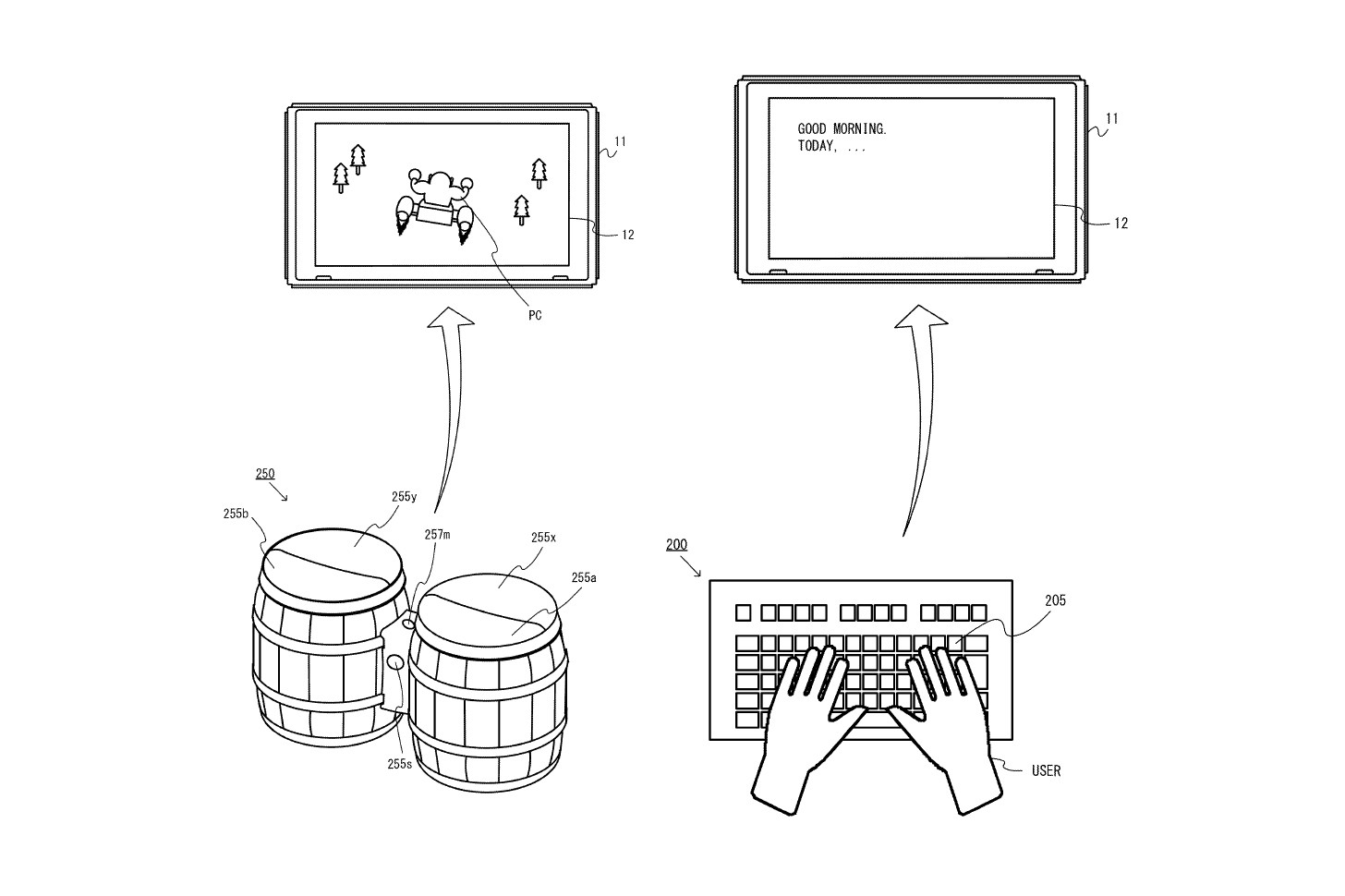 Donkey Kong Drums Nintendo Switch Patent peripheral keyboard