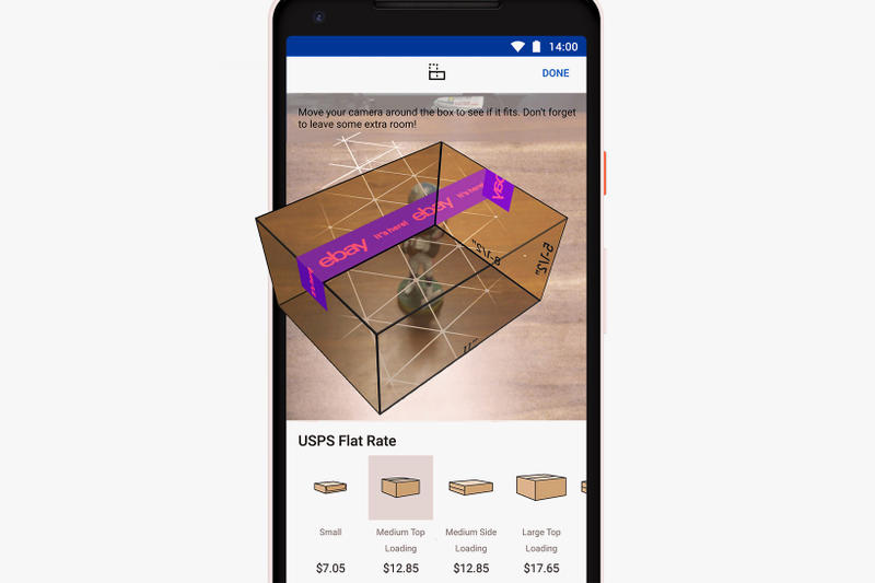 eBay Android App AR Shipping Box augmented reality