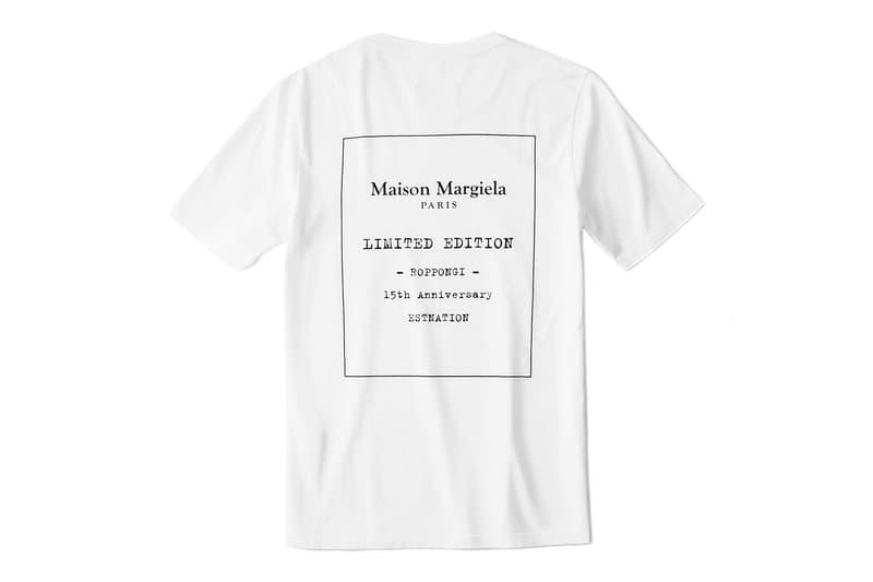 Maison Margiela Celebrates 15 Years at Roppongi Hills Store With Bespoke T-Shirt Anniversary Tokyo Japan