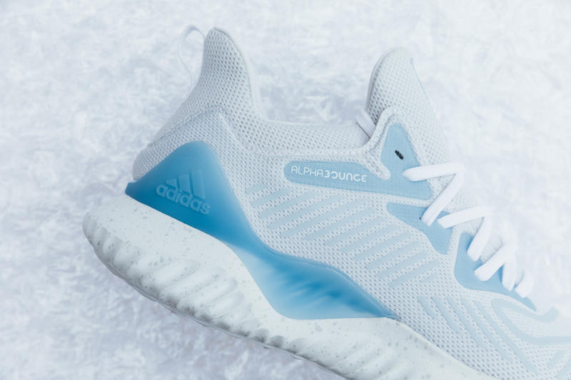 Extra Butter adidas AlphaBounce Beyond Collab sneakers footwear running runner new york germany icy blue grey bounce Seamless Forgedmesh