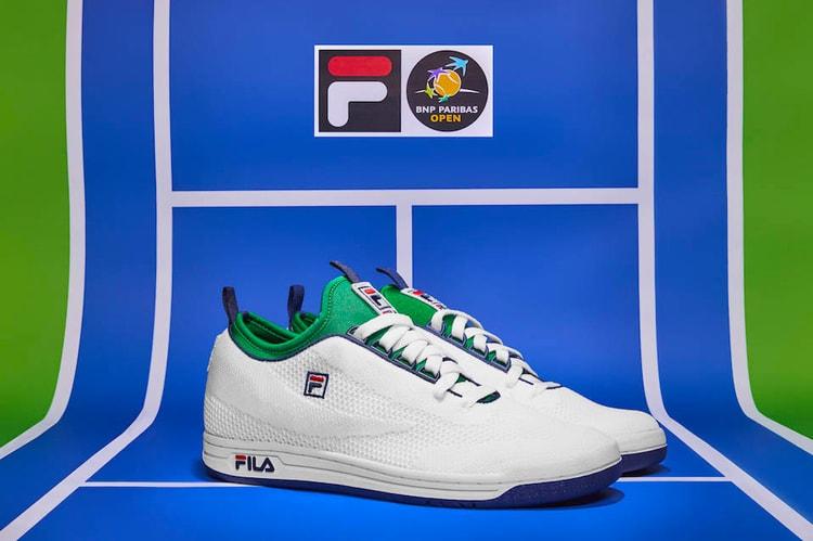 the best attitude 4b6b4 445bb FILA Releases BNP Paribas Open Original Tennis 2.0 Knit Model   Drifter  Slides
