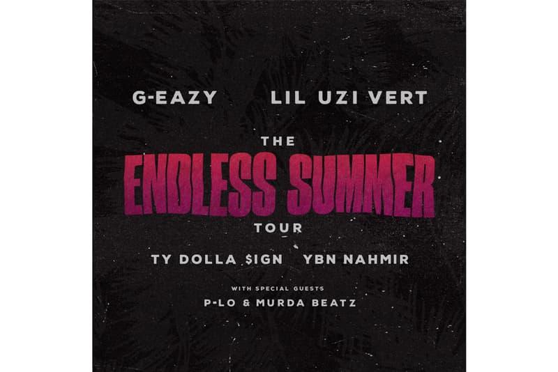 G-Eazy Lil Uzi Vert The Endless Summer Tour