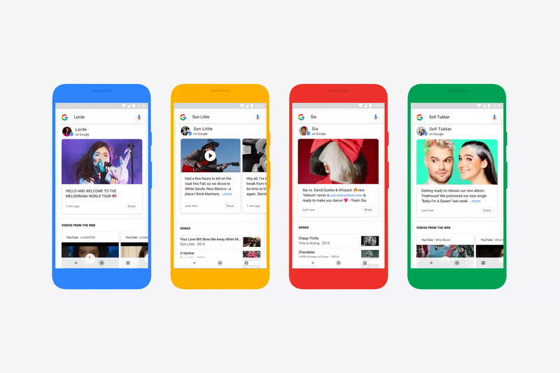 Google Tweet-Like Updates Musicians Search results box