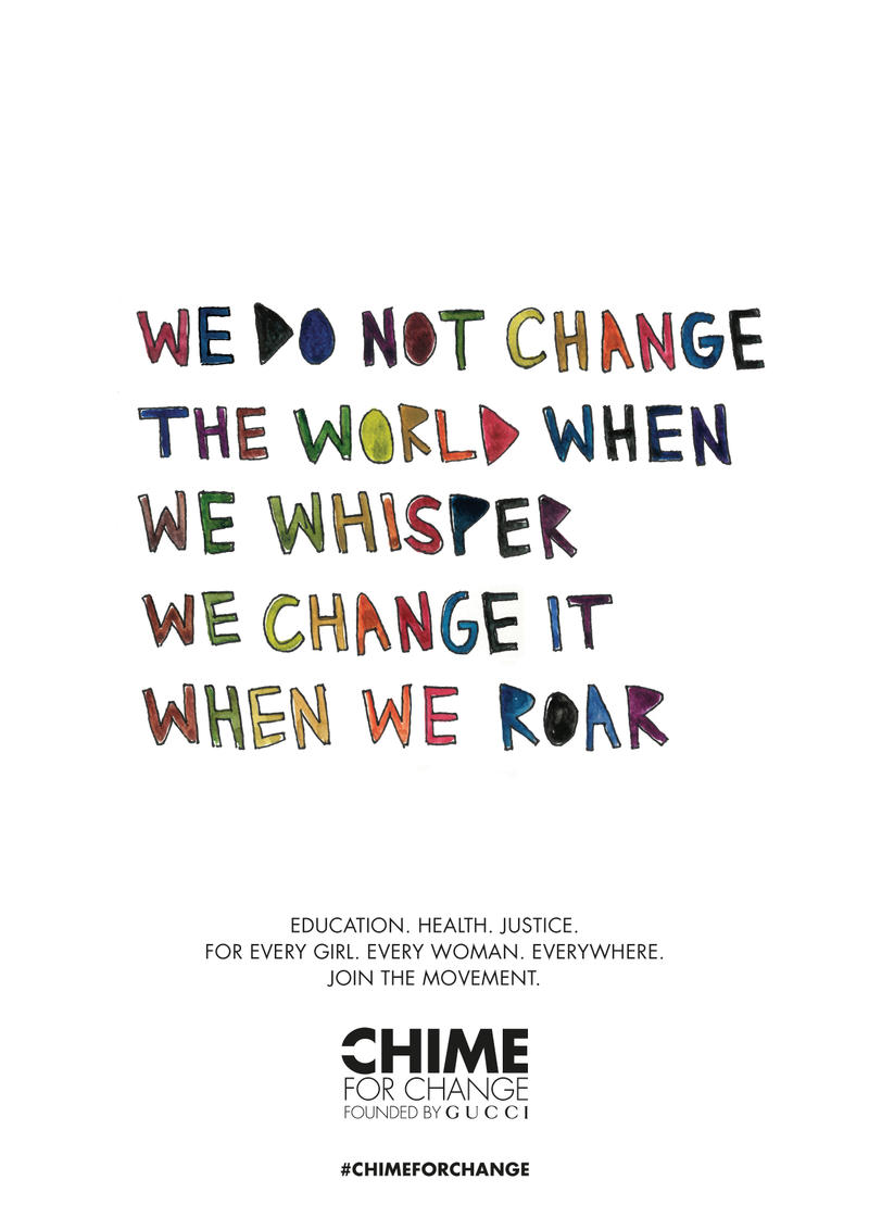 Gucci CHIME FOR CHANGE Cleo Wade International Womens Day Campaign artwork
