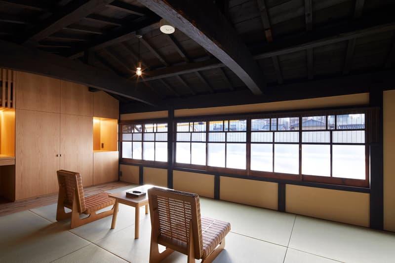Guest House Blue Architecture Design Studio Kyoto Japan Wooden Interior Exterior Garden B.L.U.E. modern tradtional japanese interior inspiration