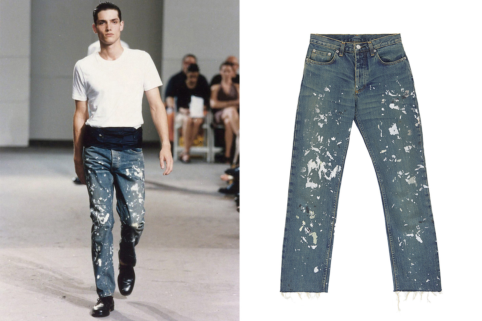 Helmut Lang denim jeans at ENDYMA's showroom. Petros Toufexis