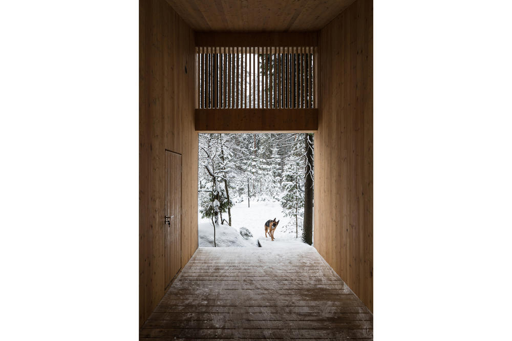 House in Roschino Ab Chvoya Vyborgsky District Russia Snow Forest Wood Interior Exterior Design Architecture Firm Cabin