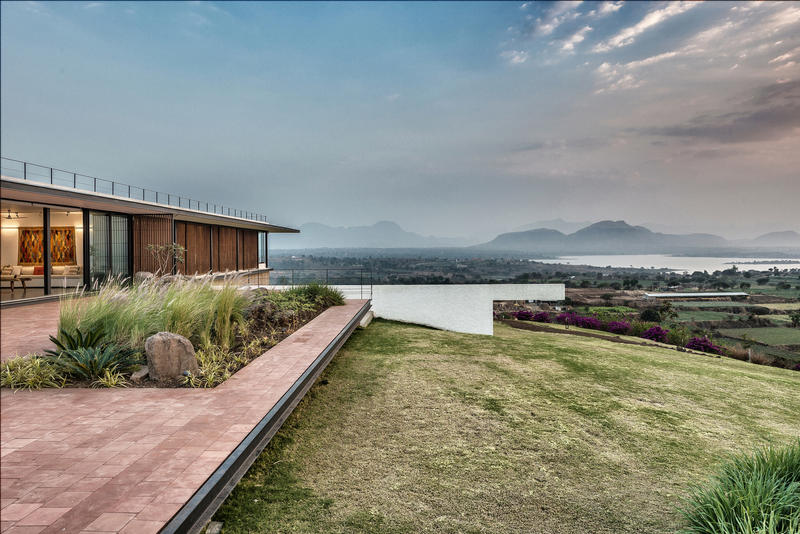 House With The Soaring Rock Spasm Design Architecture Traditional Cultural Interior Exterior Garden Swimming Pool Landscape View Mountains Sea Lake Alibag India Inspiration