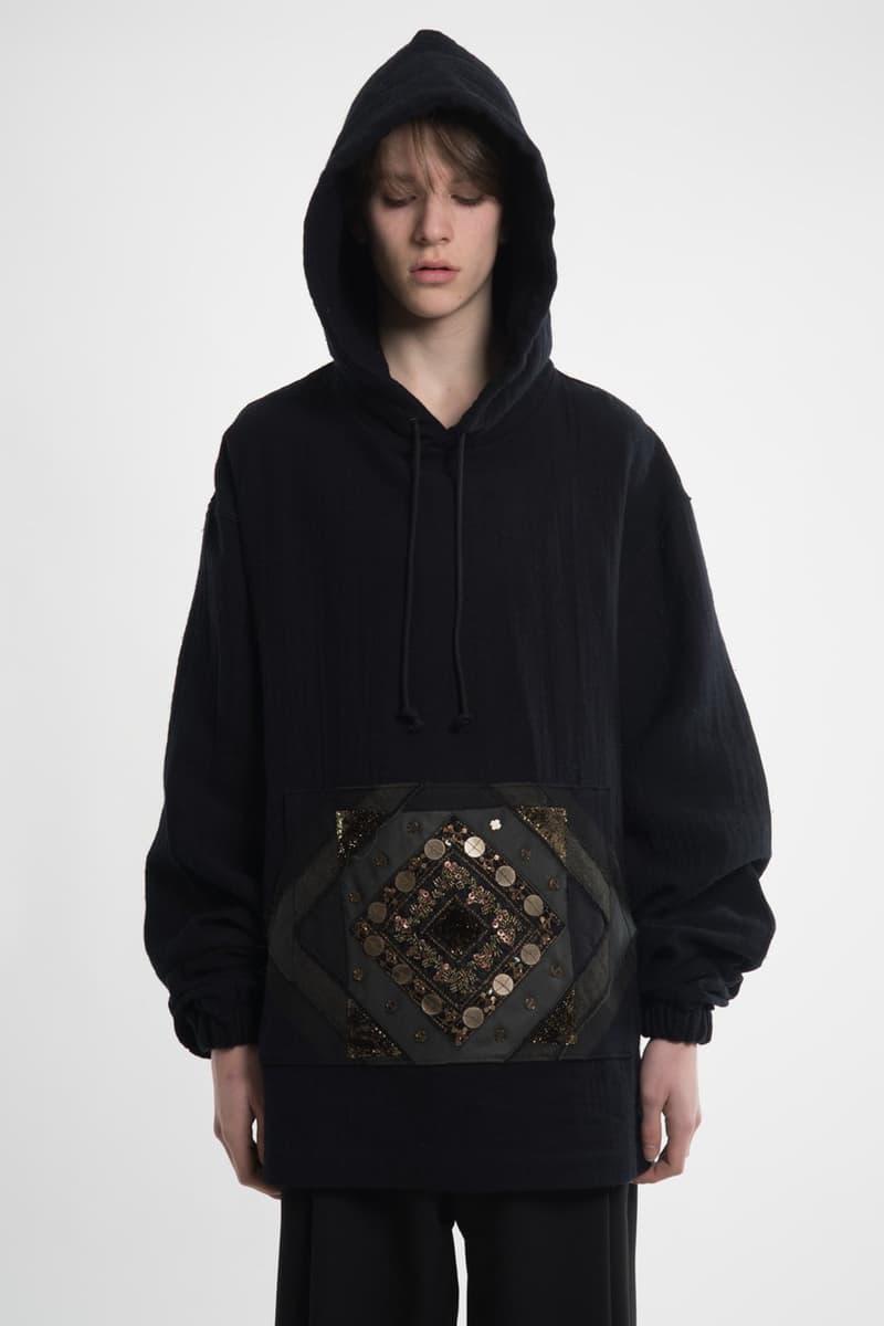 Hyein Seo Spring Summer 2018 Collection Lookbook Mens Release T-shirt Sweatshirt Lab Coat Clutch Cross Bag Denim Pants Hoodie Bomber Necklace Badge Pin