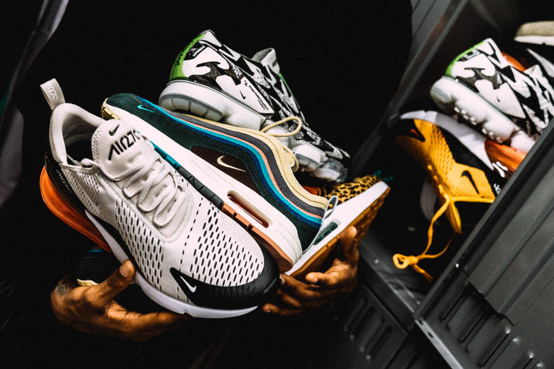 nike air max day 2018 swoosh god filayyyy new york city nyc headquarters hq office manhattan sean wotherspoon 97/1 acronym vapormax moc 270 assault animal pack 1 95 97 180 93 basketball court sneakers footwear kicks shoes