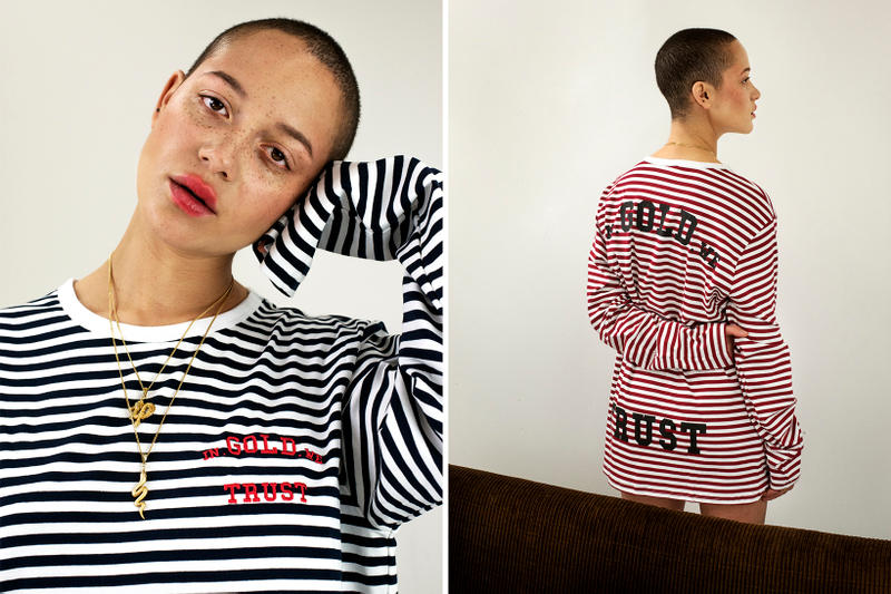 In Gold We Trust New Colorways Collection Amsterdam Nautical Striped T