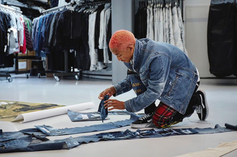 finest selection 10590 b84a3 Jaden Smith G-Star RAW Denim Collaboration Sustainable Pharrell Williams