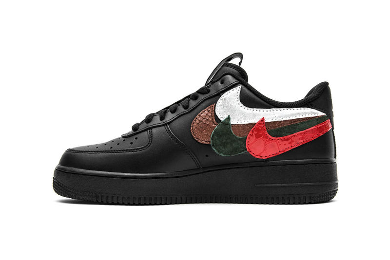 John Geiger Misplaced Checks Nike Air Force 1 Low Black AF1 DIY Custom