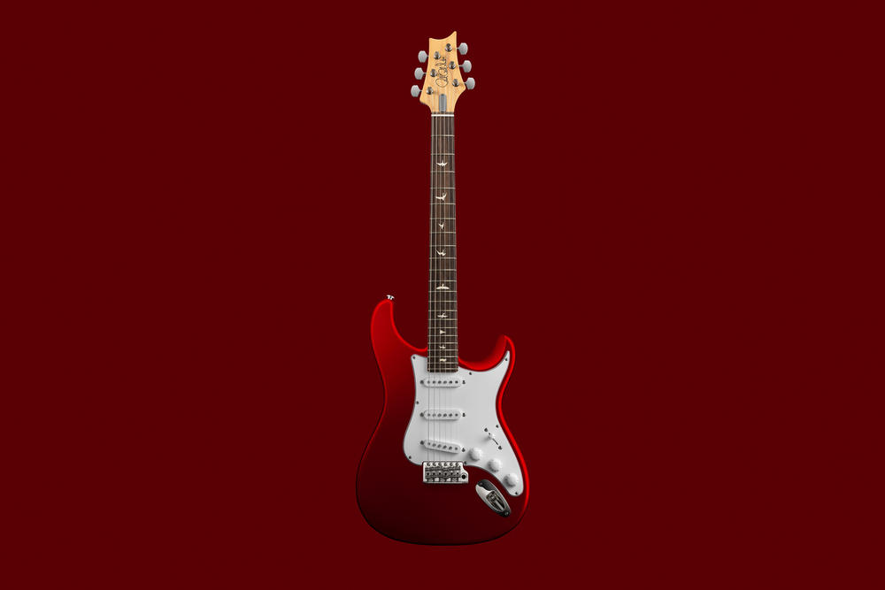 John Mayer PRS Guitars the silver sky paul reed smith red silver grey black white maple neck wood stem guitar steel