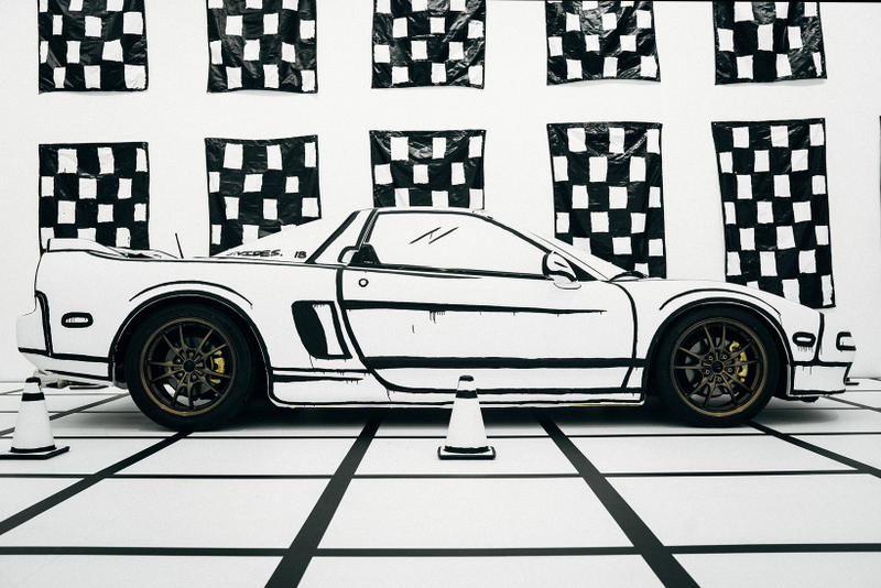 joshua vides reality to idea exhibition seventh letter gallery los angeles california artwork art exhibit acura nsx 1995 cars installations