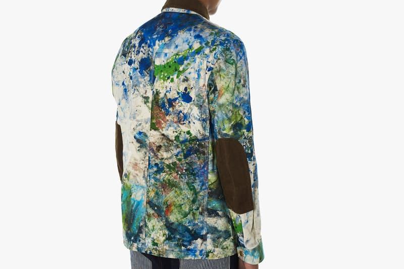 Junya Watanabe Carhartt Spring Summer 2018 hand painted coats release