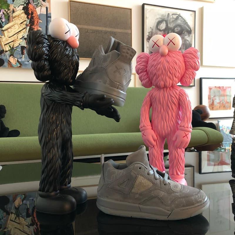 KAWS BFF air jordan 4 kids daughter teaser pink sneaker sculpture statue figure art