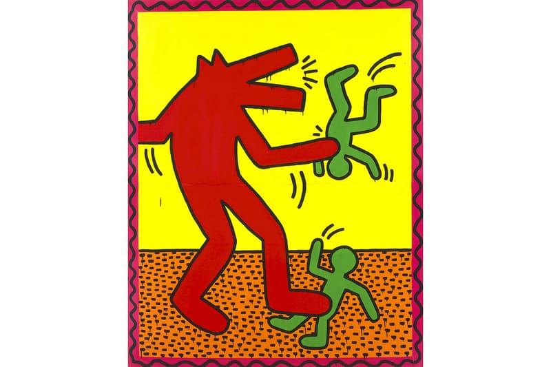 ALBERTINA Museum Keith Haring Exhibit exhibition art paintings artwork