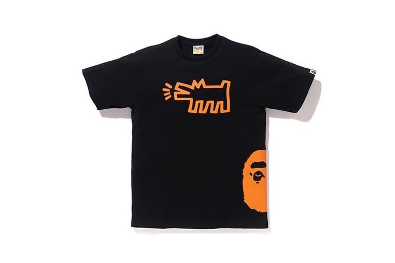 keith haring bape a bathing ape streetwear apparel clothing art artwork graffiti street art