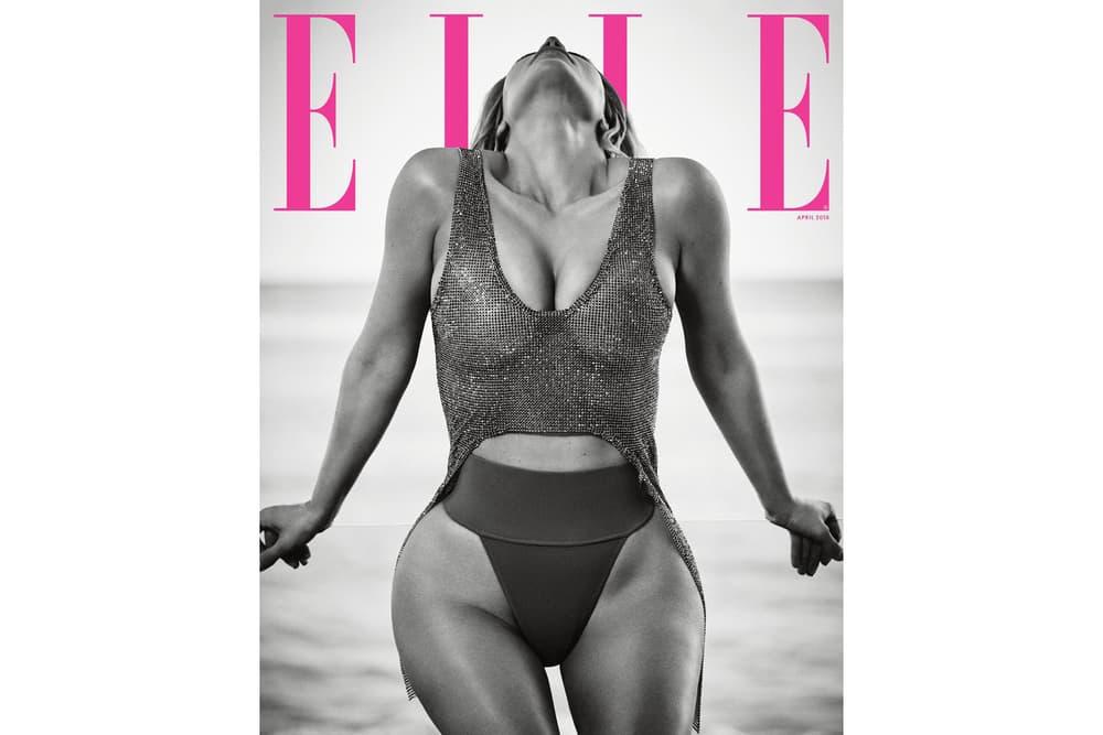 Kim Kardashian West Elle Magazine cover April 2018 cover issue magazine interview feature