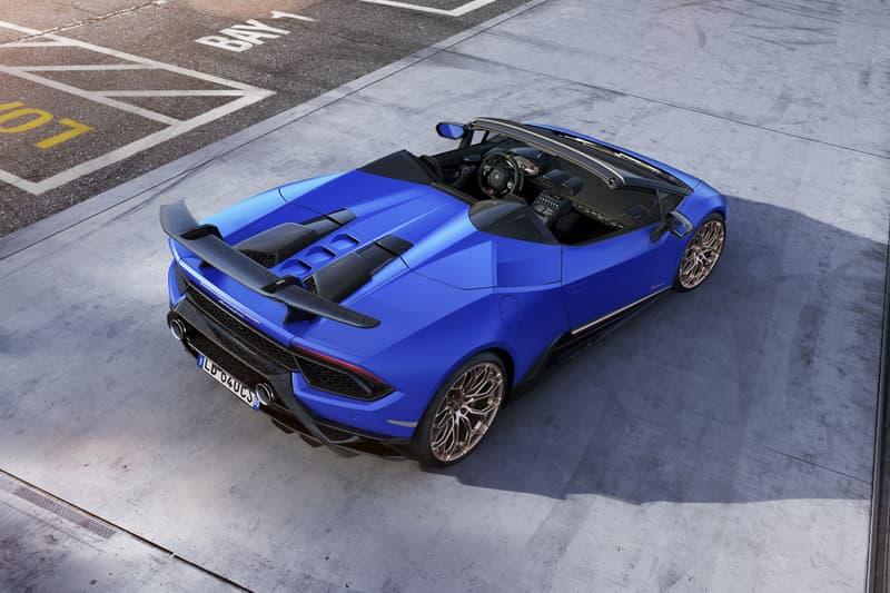 Lamborghini Huracan Performante Spyder geneva motor show 2018 sports car top roof foldable