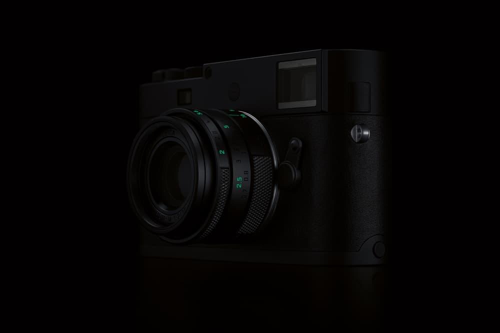 Leica Stealth Edition M Monochrom Camera 15750 usd 125 glow in the dark exclusive limited rag bone marcus wainwright matte black green