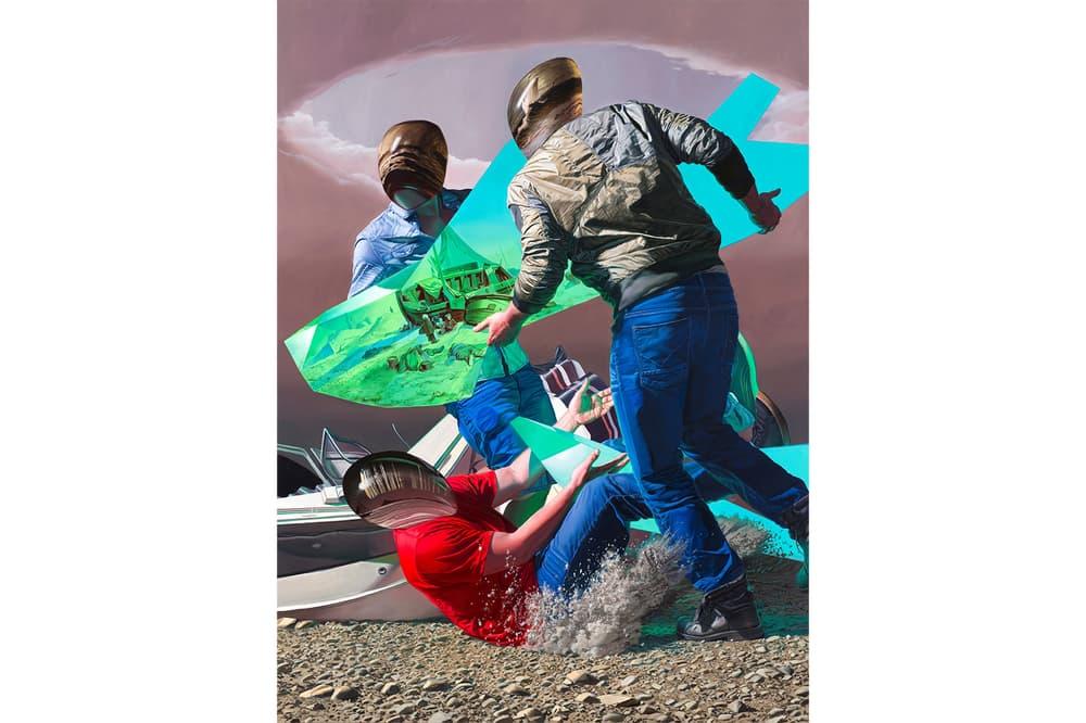 Leonardo DiCaprio Jean Pierre Roy Painting Sale VOLTA 2018 Landscape with Divergent Perceptual Reference Frames
