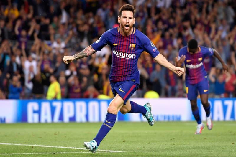 Lionel Messi Champions League 100 Club Barcelona