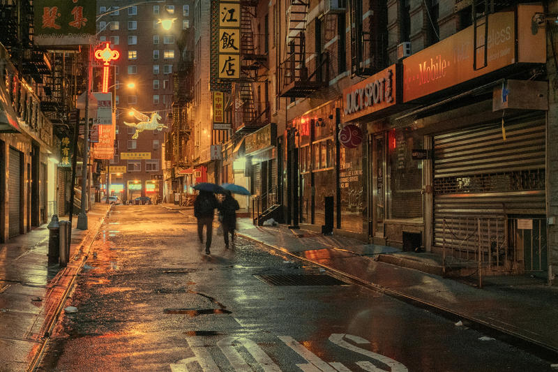 Ludwig Favre Chinatown New York Rainy Day