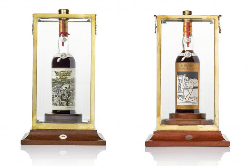 Rare 60-Year-Old Macallan Whiskey Bottles Up For Auction at Bonhams Rare Liquor Alcohol Sotheby's Luxury Goods