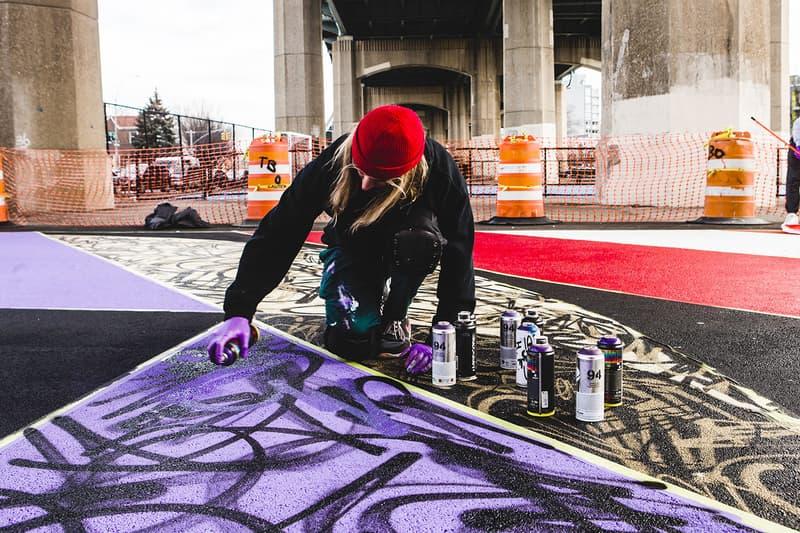 MADSTEEZ Astoria Queens Basketball Court Sports Basketball Art Graffiti New York