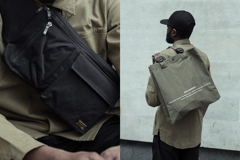 maharishi Japanese Stand Cotton Accessories London luggage bags pouch London Spring/Summer 2018