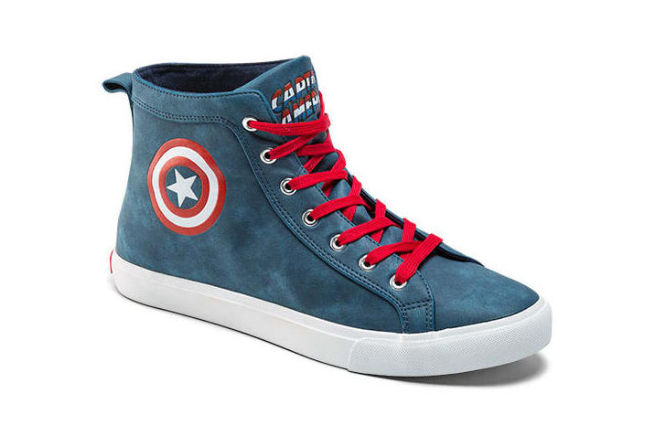 Marvel Hi-Top Sneakers Black Panther Captain America Deadpool Guardians of the Galaxy Groot
