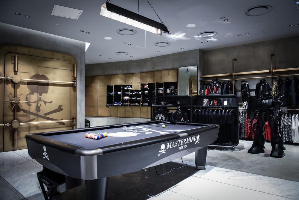 Mastermind Tokyo Flagship Store Hibiya Midtown Vans Kangol Japan streetwear fashion cards pool bank vault interior design look around inside