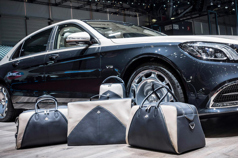 Mercedes Maybach S650 Matching Luggage Set Cars Leather Interior Sunglasses Accessories