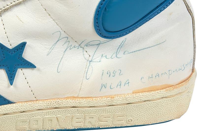 Michael Jordan Game Worn Converse Fastbreak Auction White Light Blue