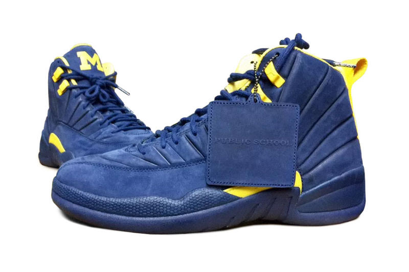 c296fcc752c PSNY Air Jordan 12 Michigan General Release Public School New York Blue  Yellow Wolverines