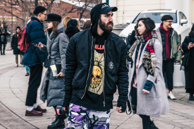 Moscow Fashion Week Fall Winter 2018 Street Style Heron Preston