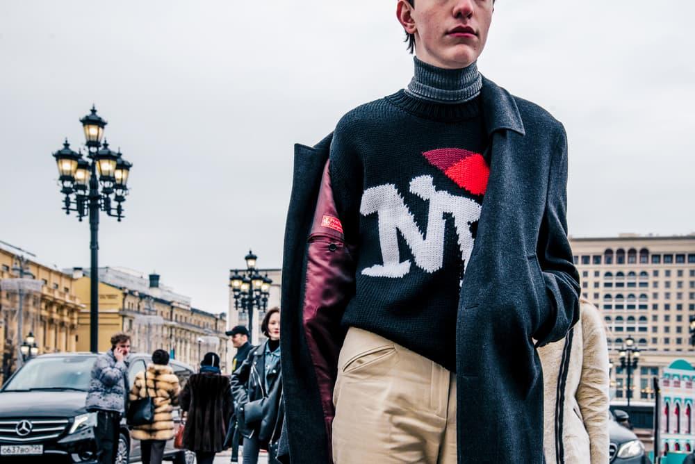 Moscow Fashion Week Fall Winter 2018 Street Style Heron Preston