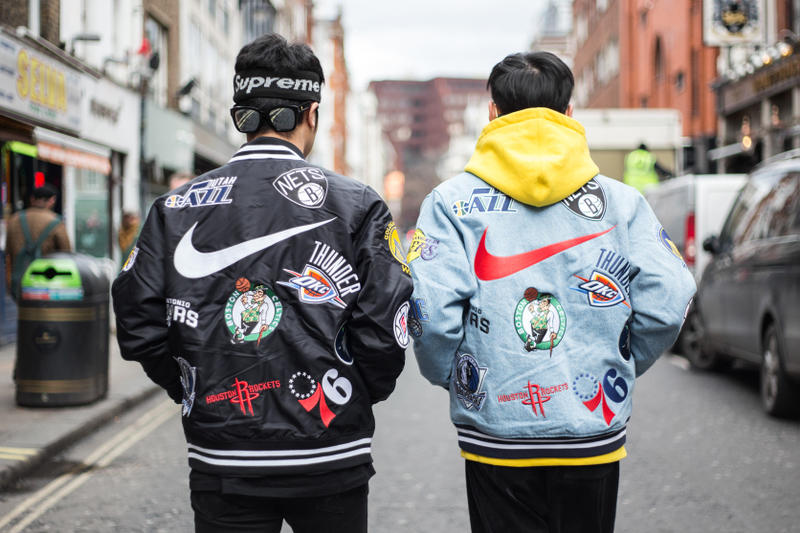 official photos 212d2 23918 Supreme x Nike x NBA Jacket Jerseys Sneakers Apparel SNKRS NikeLab