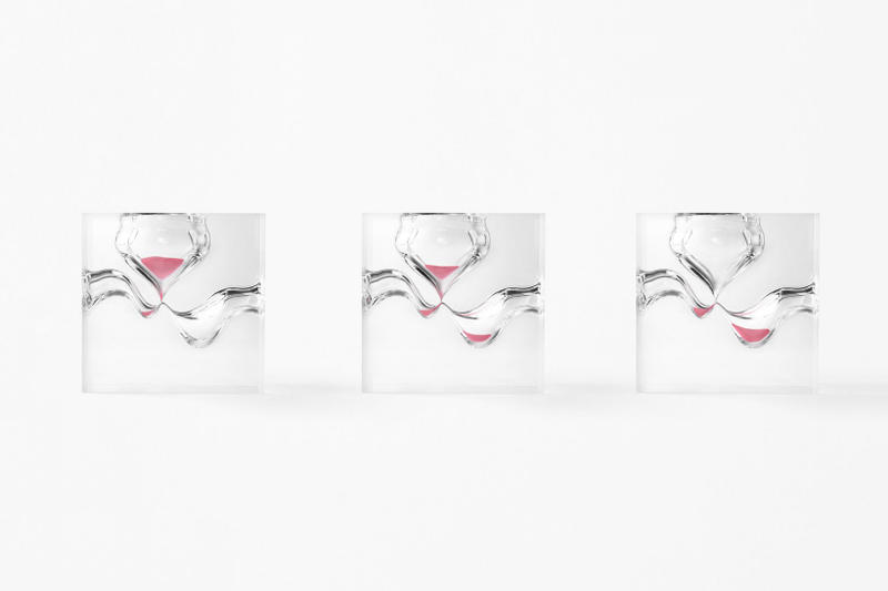 nendo variations of time collection hourglasses design
