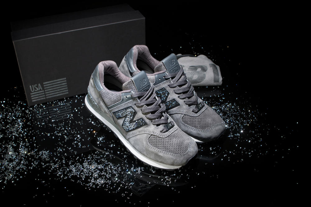 new balance 574 swarovski crystals footwear sneakers shoes jewelry collaboration