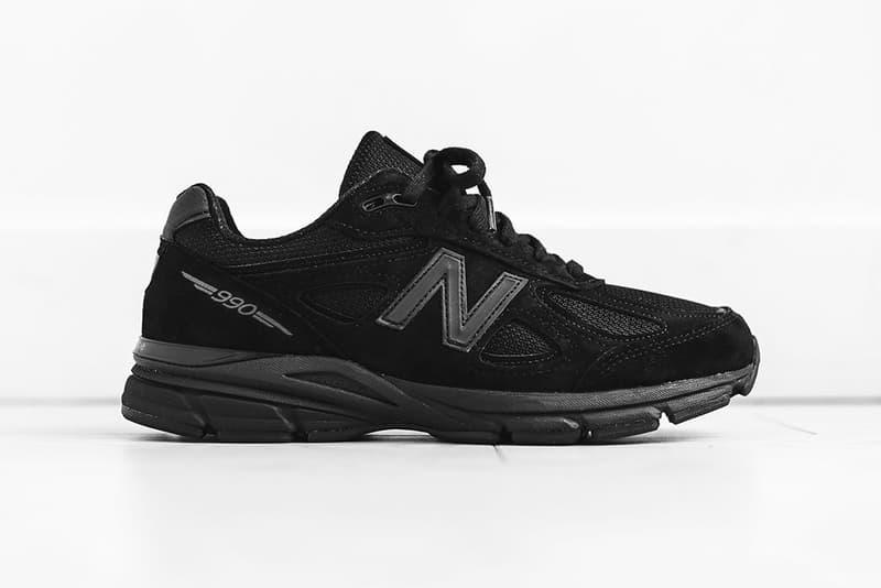 New Balance M990BB4 Triple Black release info sneakers footwear