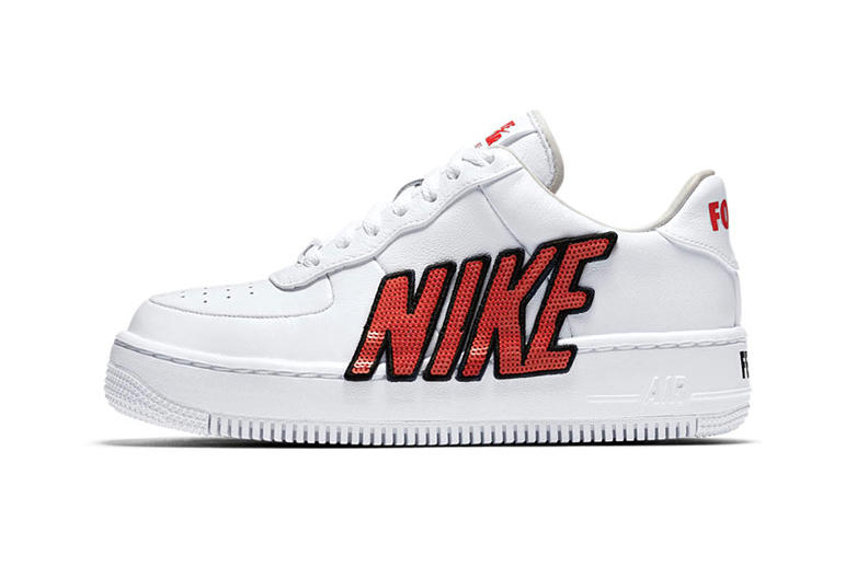 Nike Air Force 1 Upstep sequin womens sneaker shoe colorway April 2 2018 drop release info look force is female