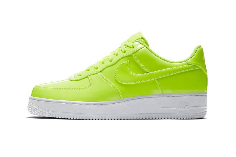 659fa13a1f69 Nike Air Force 1 Low Patent Leather Release Cherry Red Bright Volt