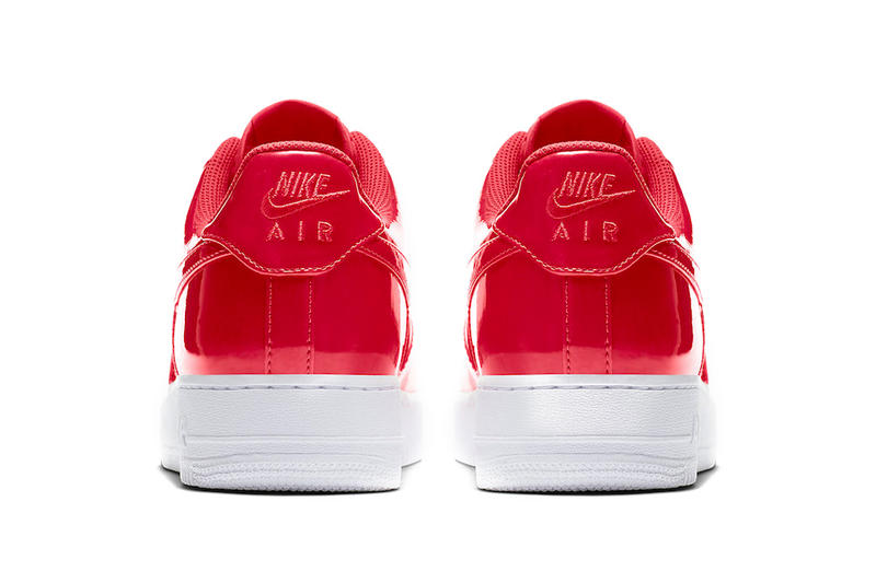 Nike Air Force 1 Low Patent Leather Release Cherry Red Bright Volt