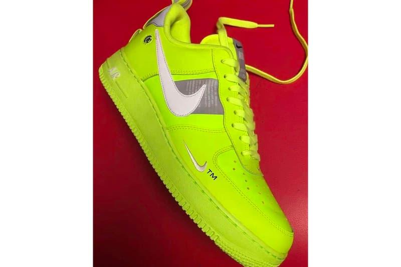 timeless design e9d3d 74168 Nike Air Force 1 Low Tennis Ball florescent yellow